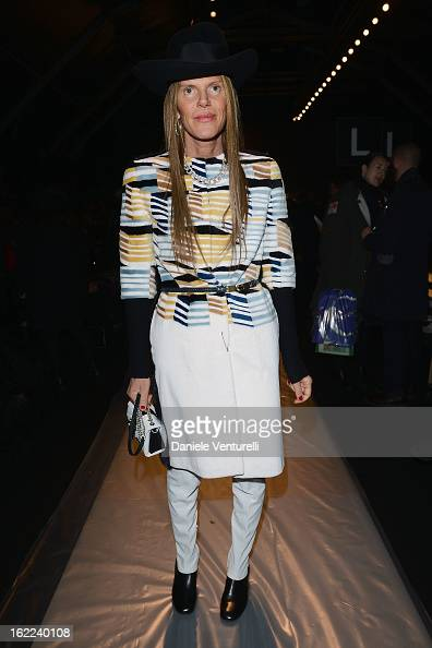 Anna Dello Russo attends the Max Mara fashion show during Milan Fashion Week Womenswear Fall/Winter 2013/14 on February 21 2013 in Milan Italy