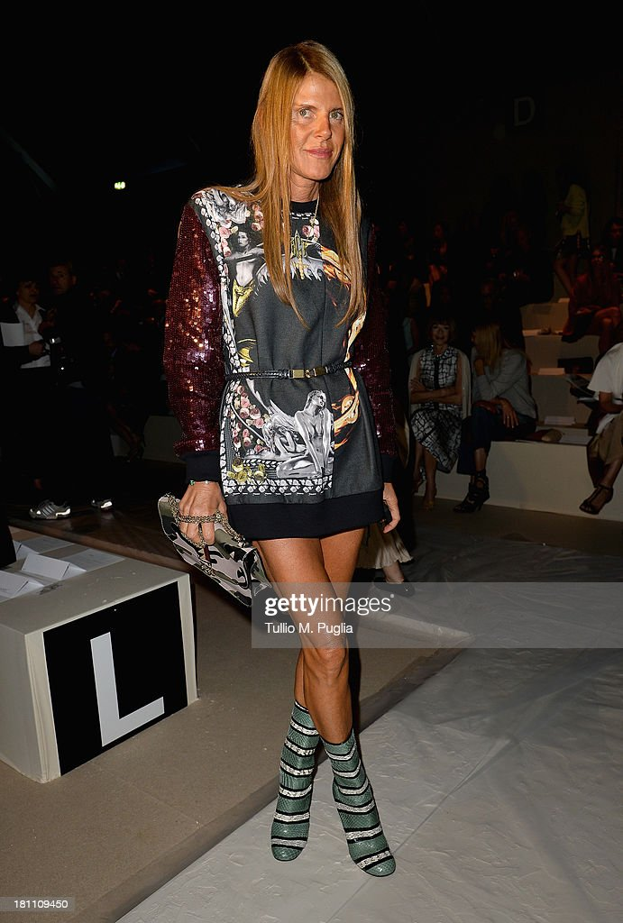 <a gi-track='captionPersonalityLinkClicked' href=/galleries/search?phrase=Anna+Dello+Russo&family=editorial&specificpeople=4391772 ng-click='$event.stopPropagation()'>Anna Dello Russo</a> attends the Max Mara show as a part of Milan Fashion Week Womenswear Spring/Summer 2014 on September 19, 2013 in Milan, Italy.