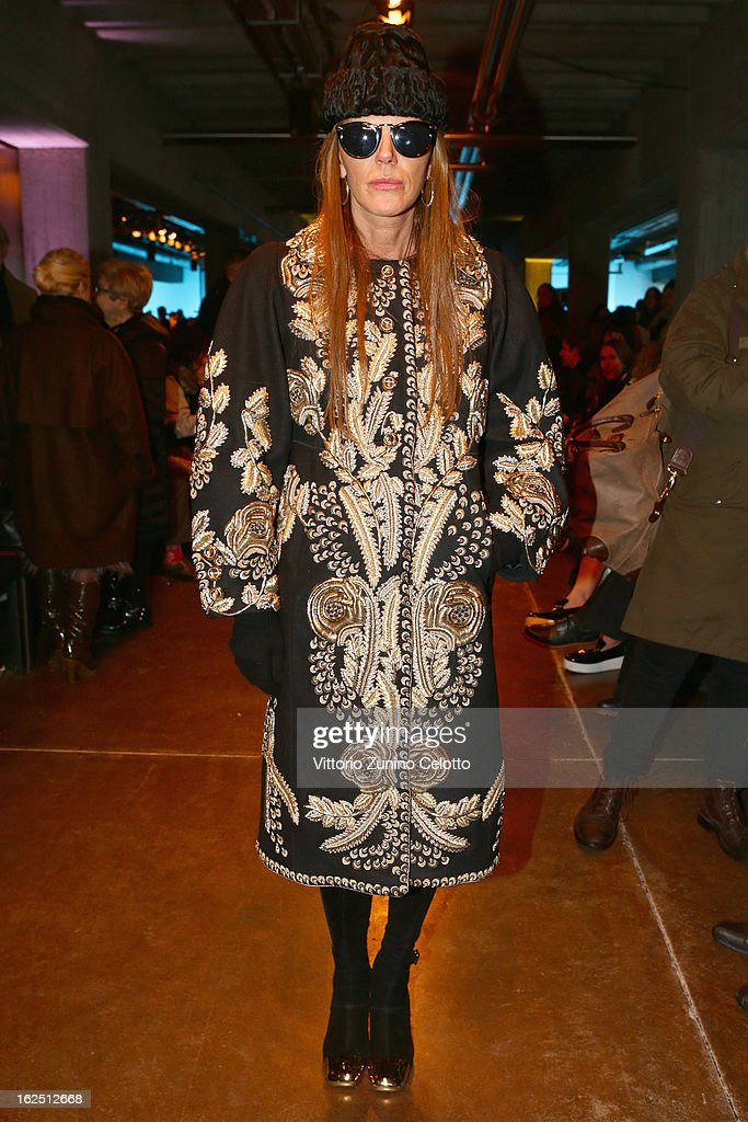 Anna Dello Russo attends the Missoni fashion show as part of Milan Fashion Week Womenswear Fall/Winter 2013/14 on February 24, 2014 in Milan, Italy.