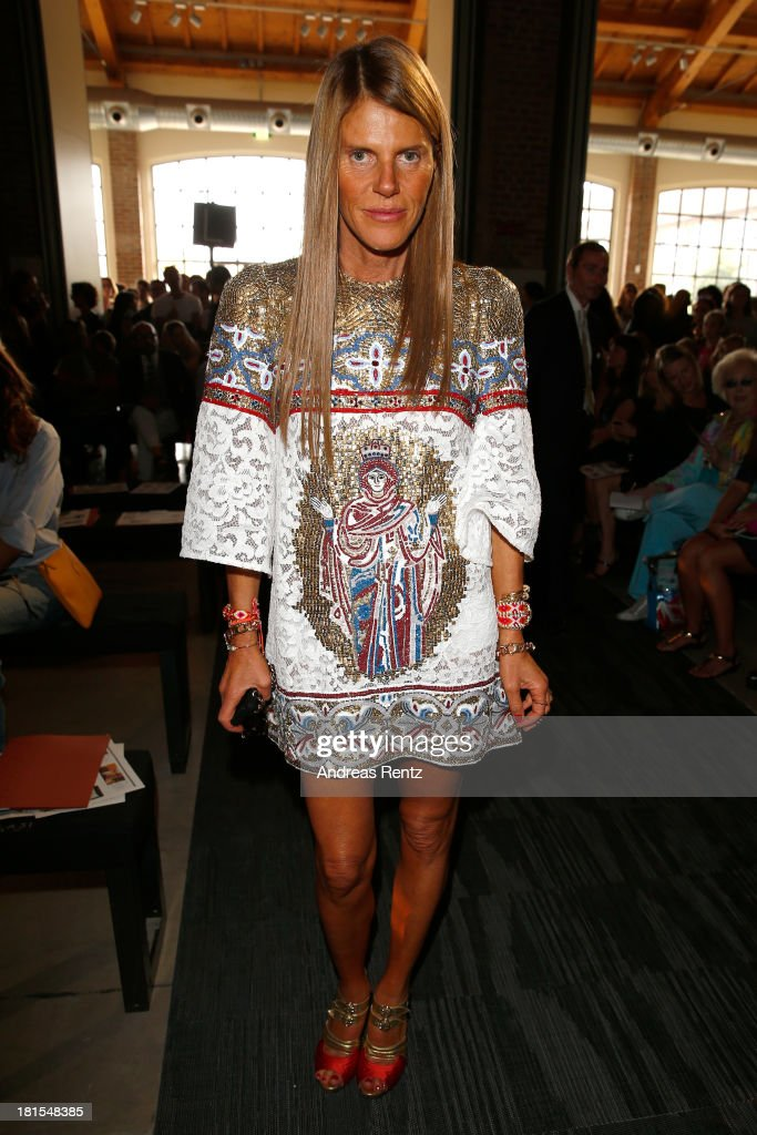 <a gi-track='captionPersonalityLinkClicked' href=/galleries/search?phrase=Anna+Dello+Russo&family=editorial&specificpeople=4391772 ng-click='$event.stopPropagation()'>Anna Dello Russo</a> attends the Missoni show as part of Milan Fashion Week Womenswear Spring/Summer 2014 at on September 22, 2013 in Milan, Italy.