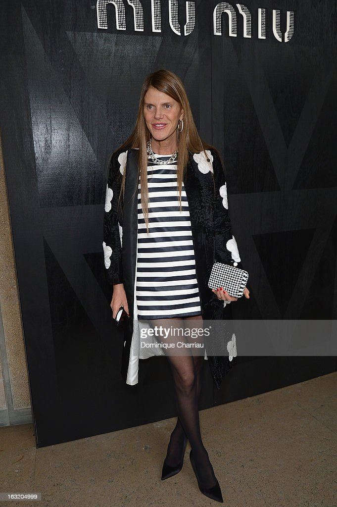 Anna Dello Russo attends the Miu Miu Fall/Winter 2013 Ready-to-Wear show as part of Paris Fashion Week on March 6, 2013 in Paris, France.