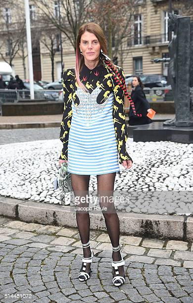 Anna Dello Russo attends the Miu Miu show as part of the Paris Fashion Week Womenswear Fall Winter 2016/2017 on March 9 2016 in Paris France