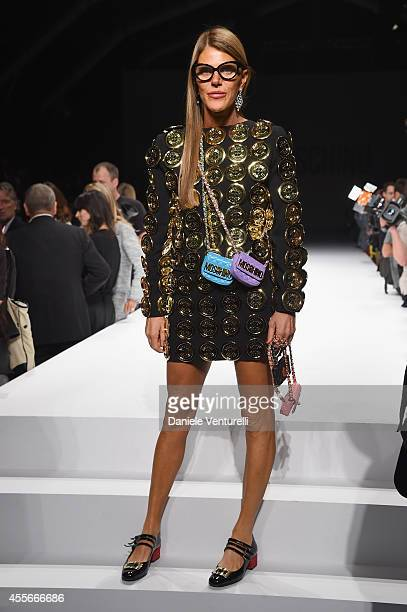 Anna Dello Russo attends the Moschino show during the Milan Fashion Week Womenswear Spring/Summer 2015 on September 18 2014 in Milan Italy