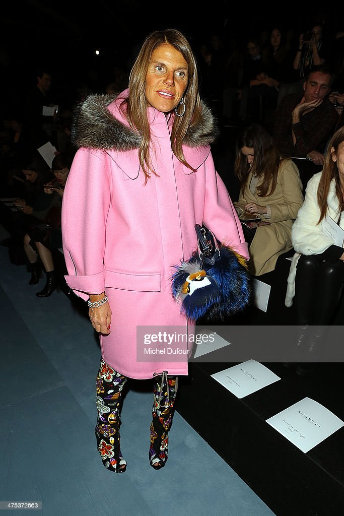 <a gi-track='captionPersonalityLinkClicked' href=/galleries/search?phrase=Anna+Dello+Russo&family=editorial&specificpeople=4391772 ng-click='$event.stopPropagation()'>Anna Dello Russo</a> attends the Nina Ricci show as part of the Paris Fashion Week Womenswear Fall/Winter 2014-2015 on February 27, 2014 in Paris, France.