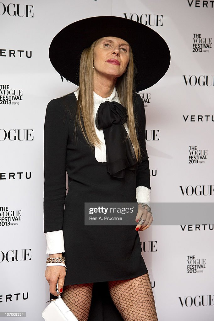 Anna Dello Russo attends the opening party for The Vogue Festival in association with Vertu at Southbank Centre on April 27, 2013 in London, England.