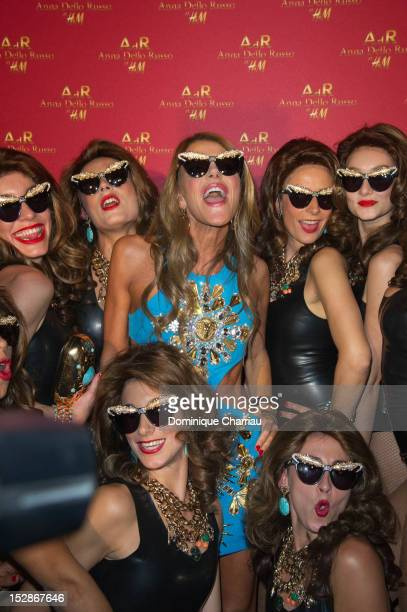 Anna Dello Russo attends The Paradise Ball at Cabaret Paradis Latin at Le Paradis Latin on September 27 2012 in Paris France