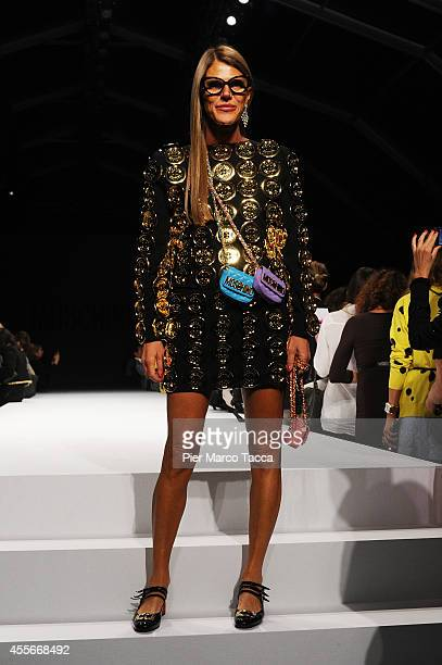 Anna Dello Russo attends the Ports1961 show during the Milan Fashion Week Womenswear Spring/Summer 2015 on September 18 2014 in Milan Italy