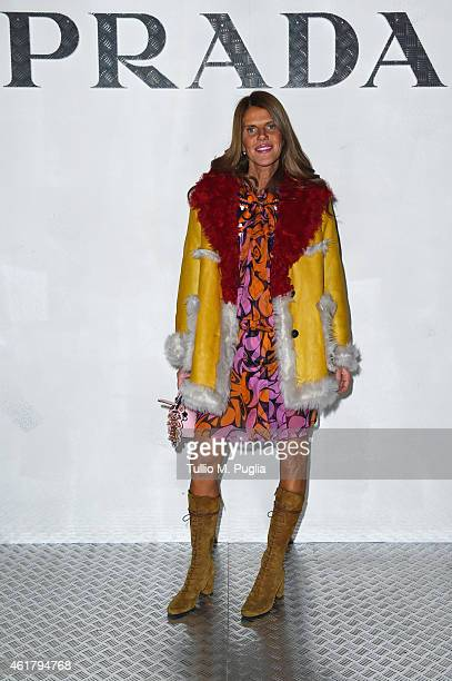 Anna Dello Russo attends the Prada Journal event during the Milan Menswear Fashion Week Fall Winter 2015/2016 on January 19 2015 in Milan Italy