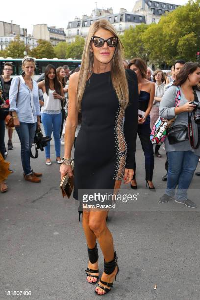 Anna Dello Russo attends the Rochas show as part of the Paris Fashion Week Womenswear Spring/Summer 2014 on September 25 2013 in Paris France