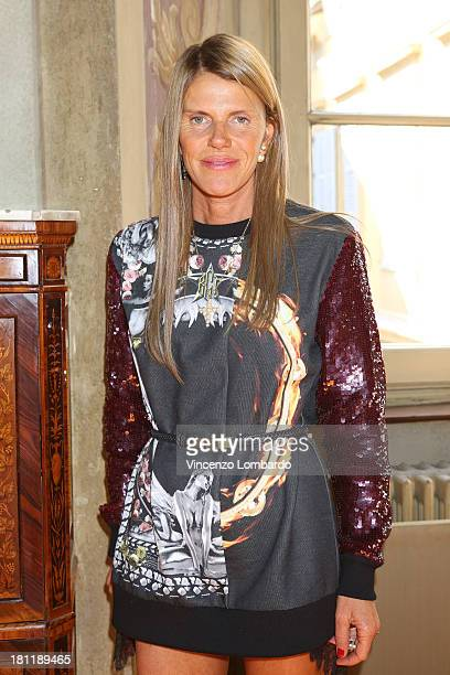 Anna Dello Russo attends the Sergio Rossi Presentation as a part of Milan Fashion Week Womenswear Spring/Summer 2014 on September 19 2013 in Milan...