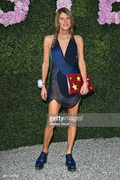 Anna Dello Russo attends the Stella McCartney Garden Party during the Milan Fashion Week Menswear Spring/Summer 2015 on June 23 2014 in Milan Italy