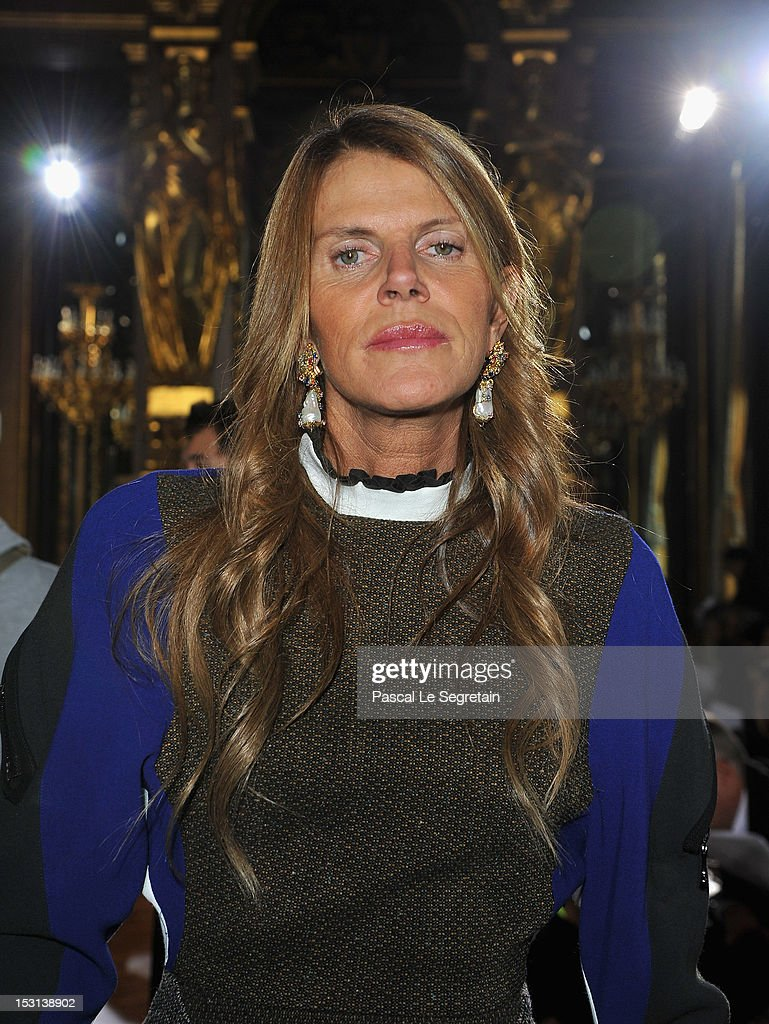 Anna Dello Russo attends the Stella McCartney Spring / Summer 2013 show as part of Paris Fashion Week on October 1, 2012 in Paris, France.