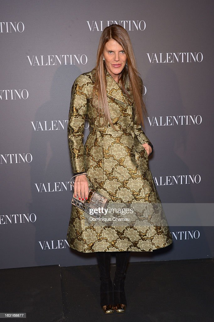Anna Dello Russo attends the Valentino Flagship reopening cocktail as part of Paris Fashion Week on March 5, 2013 in Paris, France.