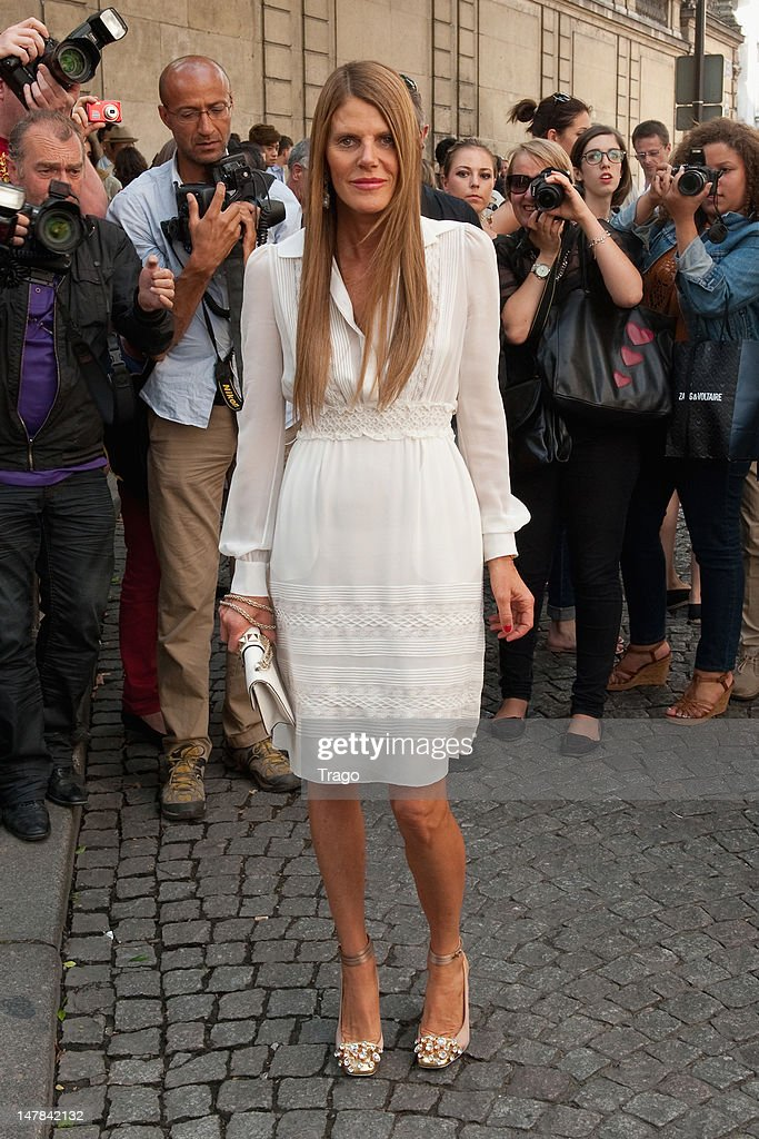 Anna Dello Russo attends the Valentino Haute-Couture Show as part of Paris Fashion Week Fall / Winter 2013 at Hotel Salomon de Rothschild on July 4, 2012 in Paris, France.
