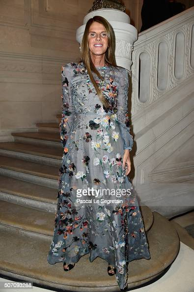 Anna Dello Russo attends the Valentino Spring Summer 2016 show as part of Paris Fashion Week on January 27 2016 in Paris France