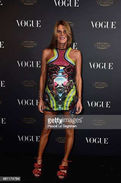 Anna Dello Russo attends the Vogue 95th Anniversary Party on October 3 2015 in Paris France