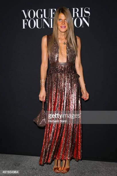 Anna Dello Russo attends the Vogue Foundation Gala as part of Paris Fashion Week at Palais Galliera on July 9 2014 in Paris France