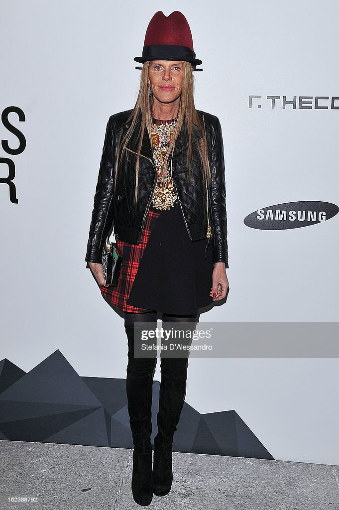 <a gi-track='captionPersonalityLinkClicked' href=/galleries/search?phrase=Anna+Dello+Russo&family=editorial&specificpeople=4391772 ng-click='$event.stopPropagation()'>Anna Dello Russo</a> attends The Vogue Talent's Corner held at Palazzo Morando during Milan Fashion Week Womenswear Fall/Winter 2013/14 on February 22, 2013 in Milan, Italy.