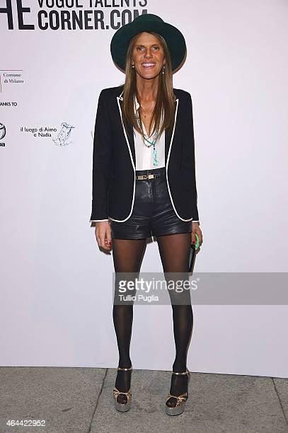 Anna Dello Russo attends the Vogue Talent's Cornercom on February 25 2015 in Milan Italy