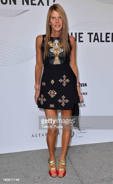 Anna Dello Russo attends 'Who is On Next Vogue Talents' event at Palazzo Morando on September 17 2013 in Milan Italy