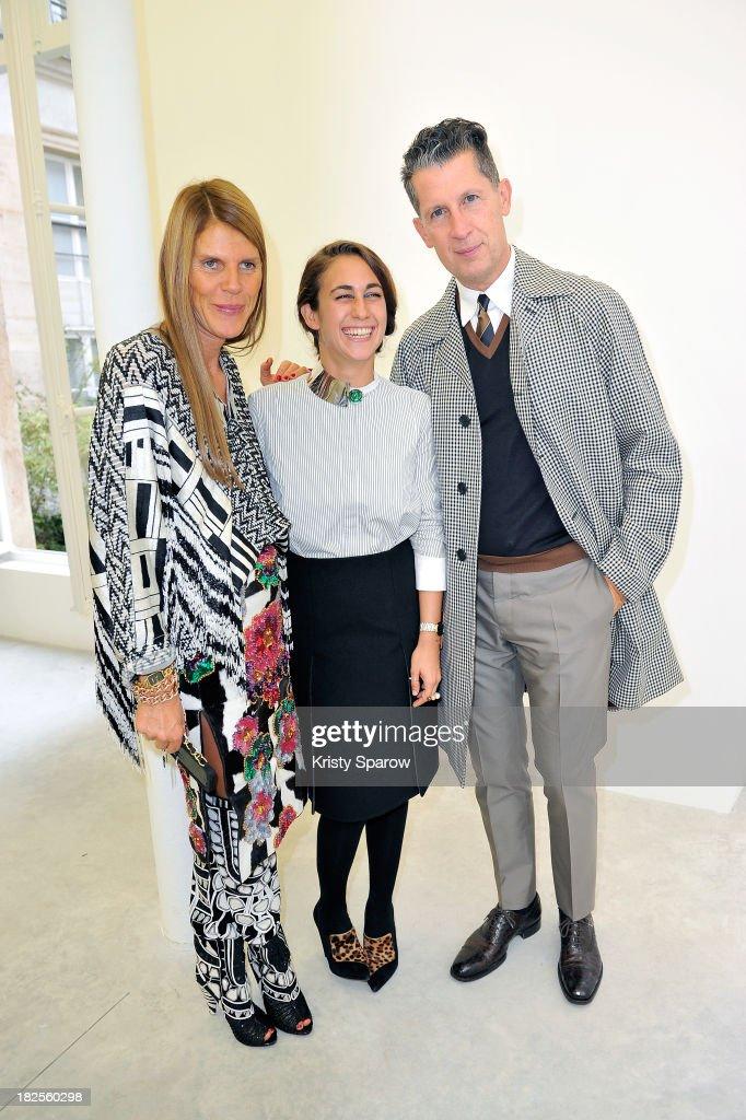 Anna Dello Russo Delfina Delettrez Fendi and Stefano Tonchi attend the Delfina Delettrez 'Never Too Light' presentation as part of Paris Fashion Week...