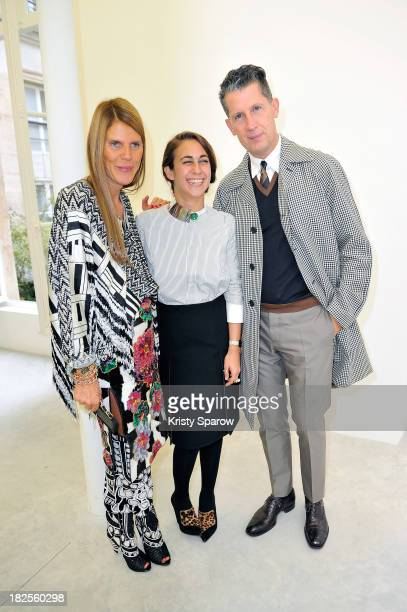 Anna Dello Russo Delfina Delettrez Fendi and Stefano Tonchi attend the Delfina Delettrez 'Never Too Light' presentation as part of Paris Fashion Week...