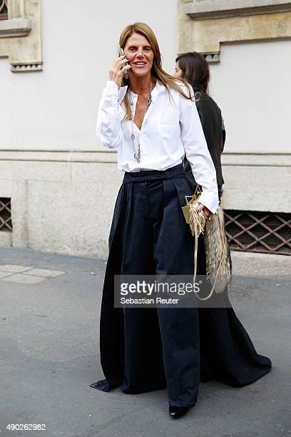 Anna della Russo is seen during the Milan Fashion Week Spring/Summer 16 on September 27 2015 in Milan Italy