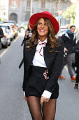 Anna Dello Russo is seen in the streets of Milan arriving at the Dolce Gabbana show during Milan Fashion Week 2015 on Mars 01 2015 in Milan Italy