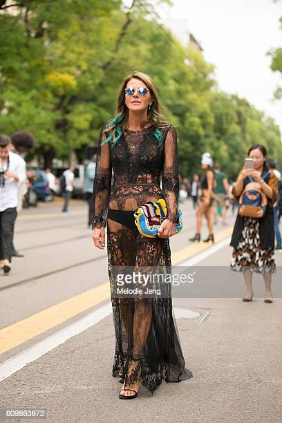 Anna Dello Russo is seen outside Fendi during Milan Fashion Week Spring/Summer 2017 on September 22 2016 in Milan Italy