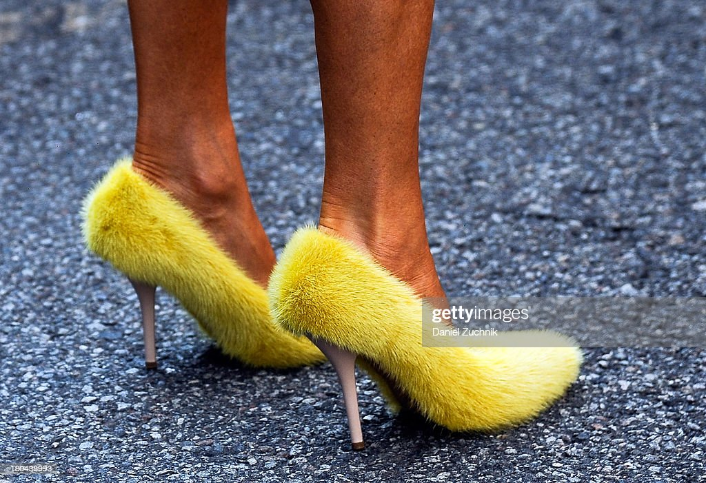 <a gi-track='captionPersonalityLinkClicked' href=/galleries/search?phrase=Anna+Dello+Russo&family=editorial&specificpeople=4391772 ng-click='$event.stopPropagation()'>Anna Dello Russo</a>(heels detail) is seen outside the Ralph Lauren show on September 12, 2013 in New York City.