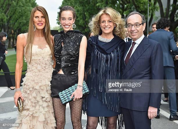 Anna Dello Russo Micol Sabbadini Stefania and Alberto Sabbadini attend the Giorgio Armani 40th Anniversary Silos Opening And Cocktail Reception on...