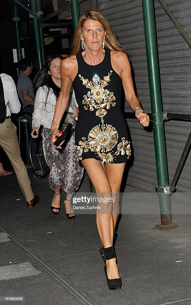 Anna Dello Russo seen outside the Proenza Schouler show on September 12, 2012 in New York City.