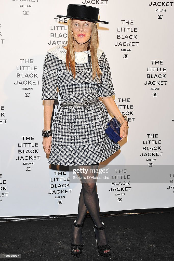 <a gi-track='captionPersonalityLinkClicked' href=/galleries/search?phrase=Anna+Dello+Russo&family=editorial&specificpeople=4391772 ng-click='$event.stopPropagation()'>Anna Dello Russo</a> ttends Chanel The Little Black Jacket - Karl Lagerfeld Photography Exhibition Dinner Party on April 4, 2013 in Milan, Italy.
