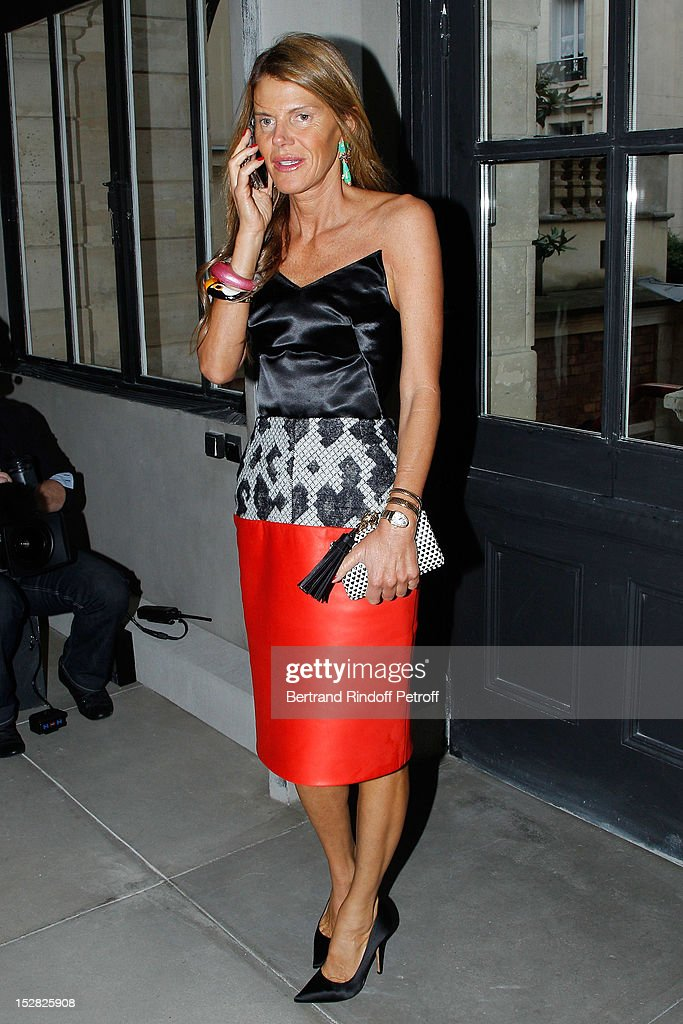 <a gi-track='captionPersonalityLinkClicked' href=/galleries/search?phrase=Anna+Dello+Russo&family=editorial&specificpeople=4391772 ng-click='$event.stopPropagation()'>Anna Dello Russo</a>, Vogue Japan editor-at-large, attends the Balenciaga Spring / Summer 2013 show as part of Paris Fashion Week on September 27, 2012 in Paris, France.