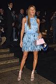 Anna Delo Russo arrives at Balenciaga Show during Paris Fashion Week Womenswear SS 2015 on September 24 2014 in Paris France