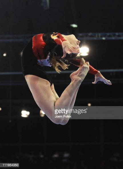 Anna Dementyeva of Russia performs at the beam during the European Championships Artistic Gymnastics Women's Apparatus Finals at MaxSchmeling Hall on...