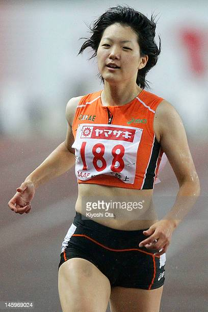 Anna Doi of Japan competes in the Women's 100m heat during day one of the 96th Japan National Championships at Nagai Stadium on June 8 2012 in Osaka...