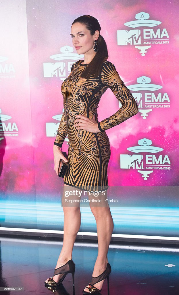 Anna Drijver attends the MTV EMA's 2013 at the Ziggo Dome in Amsterdam, Netherlands.