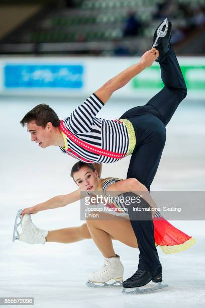 Anna Duskova and Martin Bidar of Czech Republic compete in the Pairs Free Skating during the Nebelhorn Trophy 2017 at Eissportzentrum on September 29...