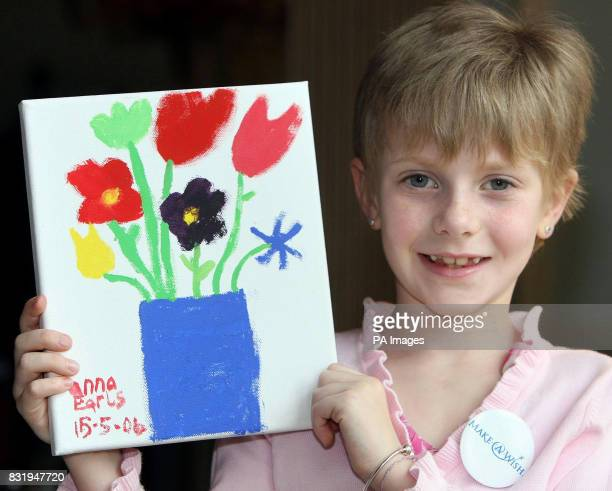 Anna Earls aged 8 from Dundonald in Belfast at Hillsborough Castle before meeting the Prince of Wales and Duchess of Cornwall