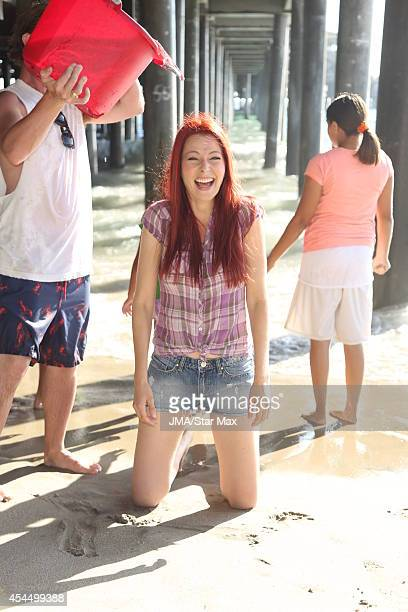 Anna East Eden is seen on September 1 2014 doing the ALS Ice Bucket Challenge at Santa Monica Beach in Los Angeles California