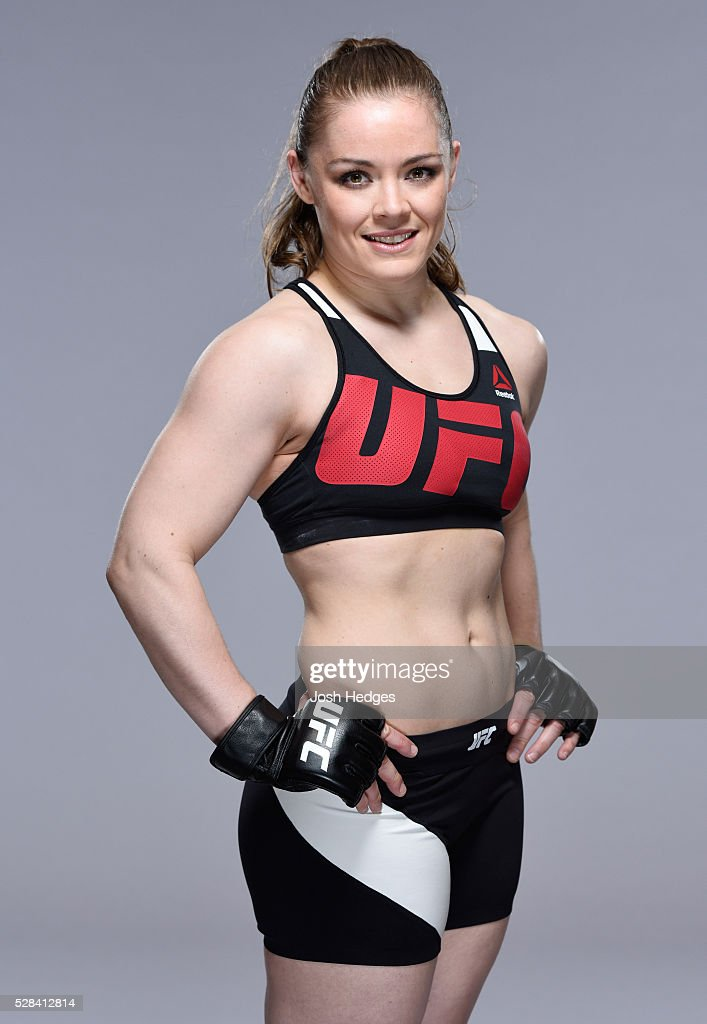 Anna Elmose of Denmark poses for a portrait during a UFC photo session at the Mainport Hotel on May 5, 2016 in Rotterdam, Netherlands.