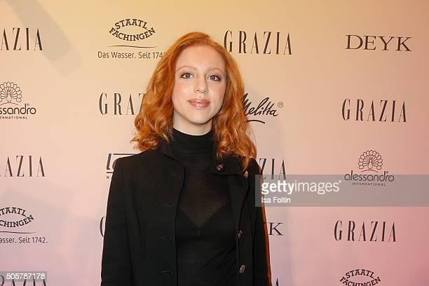 Anna Ermakova attends the GRAZIA Pop Up Breakfast on January 20 2016 in Berlin Germany