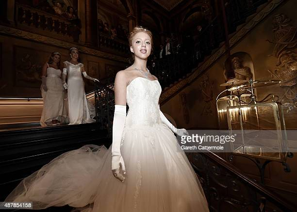 Anna Ermakova attends the Queen Charlotte Ball on September 11 2015 in London England Queen Charlotte's Ball is the pinnacle event in the London...