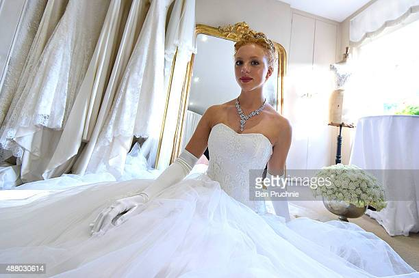 Anna Ermakova looks on ahead of the Queen Charlotte Ball on September 11 2015 in London England Queen Charlotte's Ball is the pinnacle event in the...