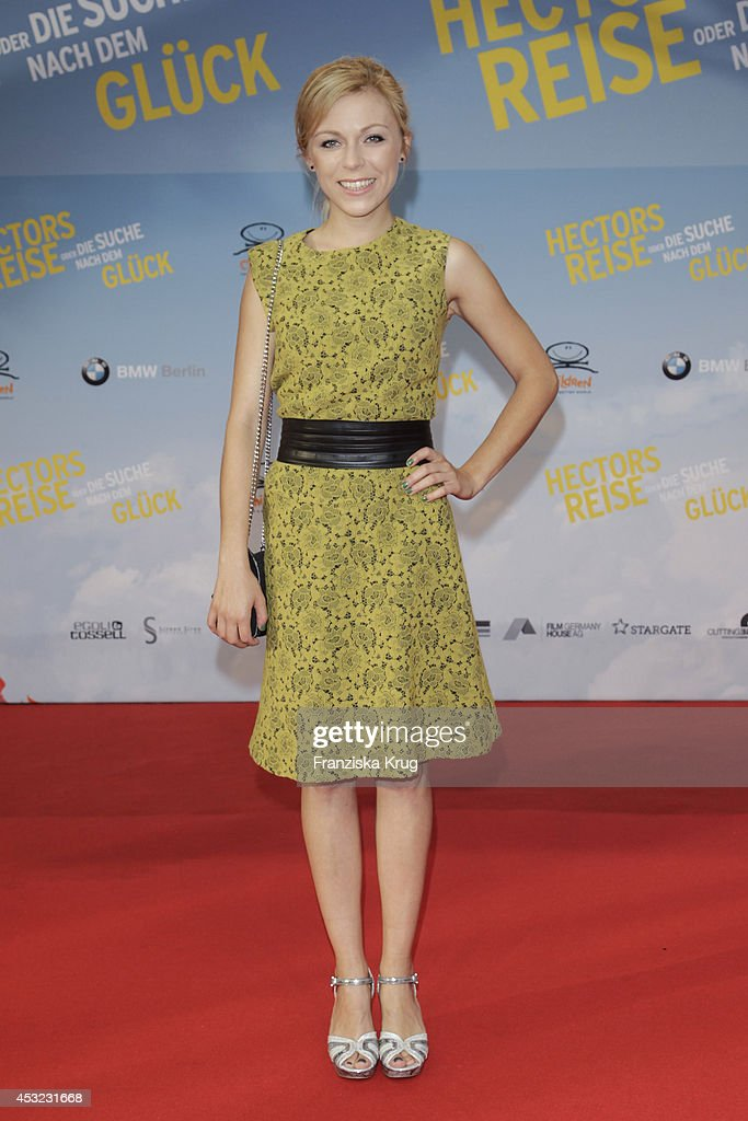 Anna Ewelina attends the premiere of the film 'Hector and the Search for Happiness' (German title: 'Hectors Reise') at Zoo Palast on August 05, 2014 in Berlin, Germany.
