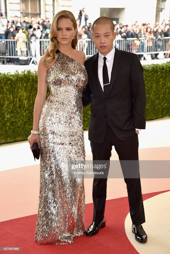 Anna Ewers (L) and Jason Wu attend the 'Manus x Machina: Fashion In An Age Of Technology' Costume Institute Gala at Metropolitan Museum of Art on May 2, 2016 in New York City.