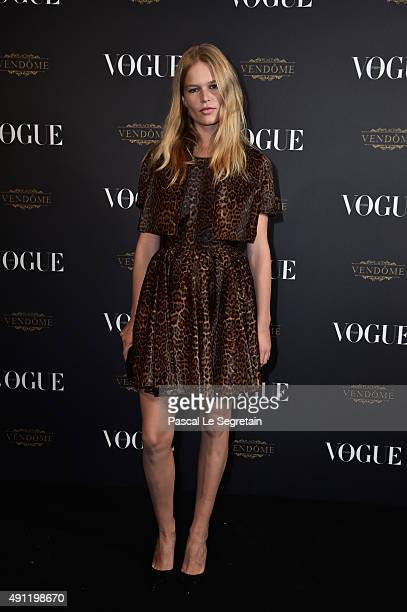 Anna Ewers attends the Vogue 95th Anniversary Party on October 3 2015 in Paris France