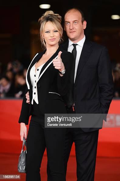 Anna Falchi and Andrea Ruggeri attend the 'E La Chiamano Estate' Premiere during the 7th Rome Film Festival at the Auditorium Parco Della Musica on...