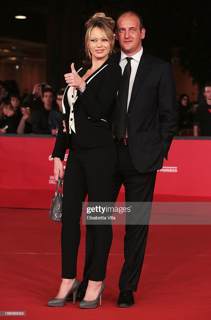 Anna Falchi and Andrea Ruggeri attends the 'E La Chiamano Estate' Premiere during the 7th Rome Film Festival at the Auditorium Parco Della Musica on...